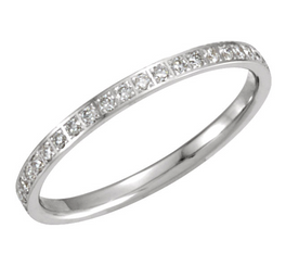 14kt White 3/8 CTW Diamond Machine Set Eternity Band