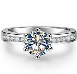 1.5TTW 1CT Center NSCD Simulated Diamond Round Brilliant Engagement Wedding Ring! - CLOSE OUT PRICE!