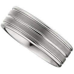 8.3mm Dura Tungsten grooved satin band