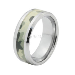 8mm Tungsten Carbide Camo Mens Wedding Band Mossy 2