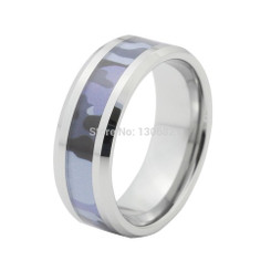 8mm Tungsten Carbide Camo Mens Wedding Band Mossy 3