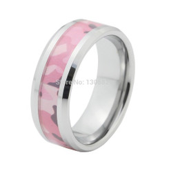 8mm Tungsten Carbide Camo Wedding Band Manly