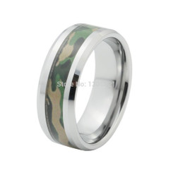 8mm Tungsten Carbide Camo Wedding Band
