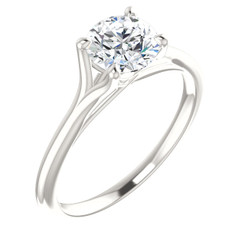 NSCD Simulated Diamond 1CT Solitaire 4 Prong Engagement Wedding Ring - Intertwined Profile