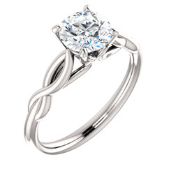The Infinity Forever One Moissanite Solitaire Engagement Ring