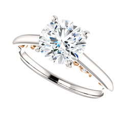 The Abigail NEO Moissanite Round Brilliant Cut 1.50CT Engagement Ring with Rose Gold Under Gallery