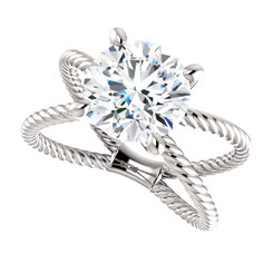 The Jen Ring Series - NEO Moissanite 2.70CT Center Round Brilliant Cut - SEE VIDEO BELOW