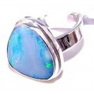.925 Sterling Silver Fire Opal Ring