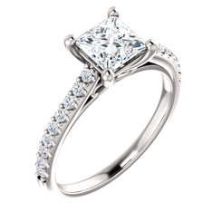 The Infinity Ring Series - Eternal Moissanite 1CT = 5.5mm Princess Cut Engagement Ring - VIDEO BELOW