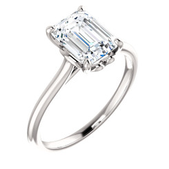 The Holly Ring Series  - NEO Moissanite 1.75 Emerald Cut Engagement Ring
