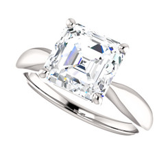 The Gracie Ring Series - Eternal Moissanite Asscher Cut 2.20CT Solitaire Engagement Ring - VIDEO BELOW