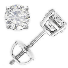 14K Forever One 6mm = .75CT Moissanite Stud Earrings
