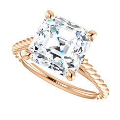 The Faye Ring Series - Eternal Moissanite 3.10CT Asscher Cut Engagement Ring