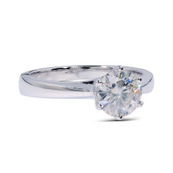 The Brooklyn Ring Series - 14K White Gold Eternal Moissanite 3CT Round Brilliant Cut Solitaire Engagement Ring - VIDEO BELOW