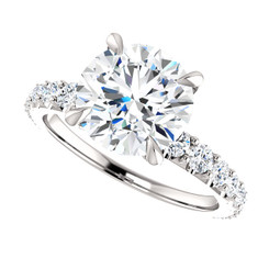 The Finley Series Ring - Eternal Moissanite 3CT Round Brilliant Cut Engagement Ring