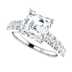 The Taylor Ring Series - Eternal Moissanite 2.70CT Asscher Cut Engagement Ring