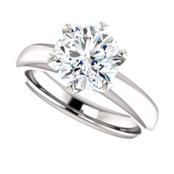 "The Kaylee Ring Series - Eternal Moissanite 2CT Round ""DIAMOND CUT""  Engagement Ring"
