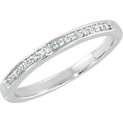 Ladies 1/8cttw. Princess Cut Channel Set Set Band 14K White Gold