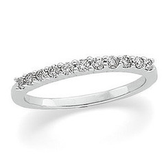 Ladies  PLATINUM  1/5cttw Round Brilliant Diamond Band
