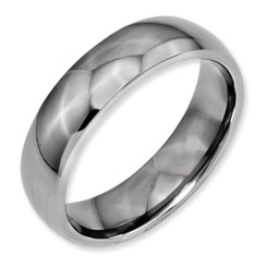 6mm Polished Titanium Band Comfort Fit