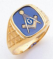 Men's Master Mason Ring (Open Back) Freemason !