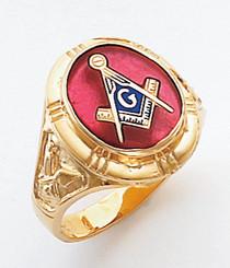 Men's Master Mason Ring (Open Back) Freemason !!