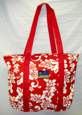 Hula Lulu Canvas hawaiian tote Red