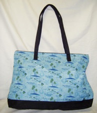 Hawaiian islands Tote - Blue