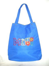Blue canvas Maui Tote