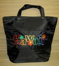 Black Nylon Hawaii Tote.