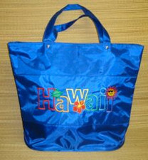 Blue Nylon Hawaii Tote