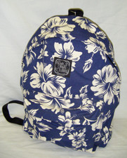Hawaiian Canvas pareau print backpack Navy & White