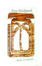 Hawaiian Koa Book marker Coconut tree