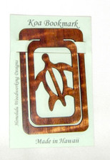 Hawaiian Koa Book marker Honu