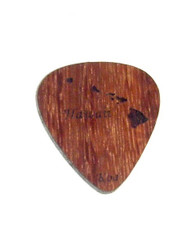Hawaiian Koa Pick  Island Chain