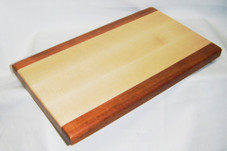 Hawaiian koa and maple wood cutting board