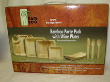Bamboo Party Pack with wine plates