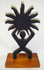 Black Sand Hawaiian Sculpture Sun / Petro Man