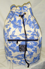 Hawaiian Pareau print sling bag Blue & white