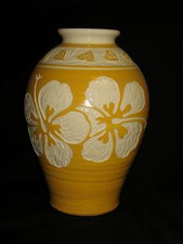 Yellow Hibiscus Vase