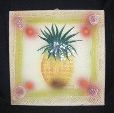 Decorative Pineapple Tile White