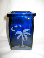 Palm Tree Moon And Stars Colbalt Blie