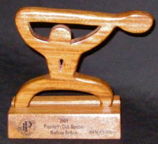 Hawaiian PADDLER TROPHY w/ STAND