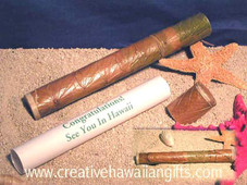 Hawaiian Banana Leaf Invitation Tube