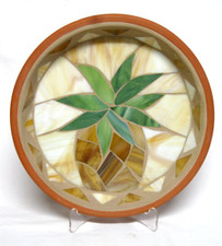 Hawaiian CERAMIC TERRA COTTA PLATE- Pineapple