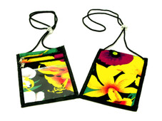 Hawaiian Floral Print ID Badge Holder lanyard