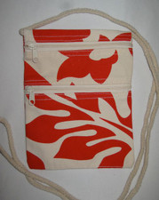 Hawaiian Hibiscus Canvas Small Purse - RED