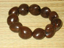 Hawaiian KUKUI NUT BRACELET - BROWN