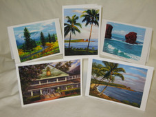 Hawaiian LANAI NOTECARD - SET