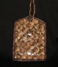 Hawaiian Native Fiber Bacbac Palm Luggage Tags